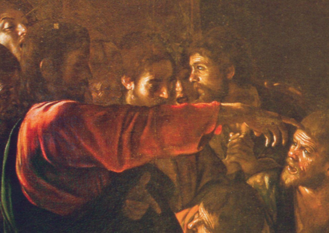 Michelangelo Merisi da Caravaggio, Resurrezione di Lazzaro, 1609, dettaglio. Museo Regionale, Messina