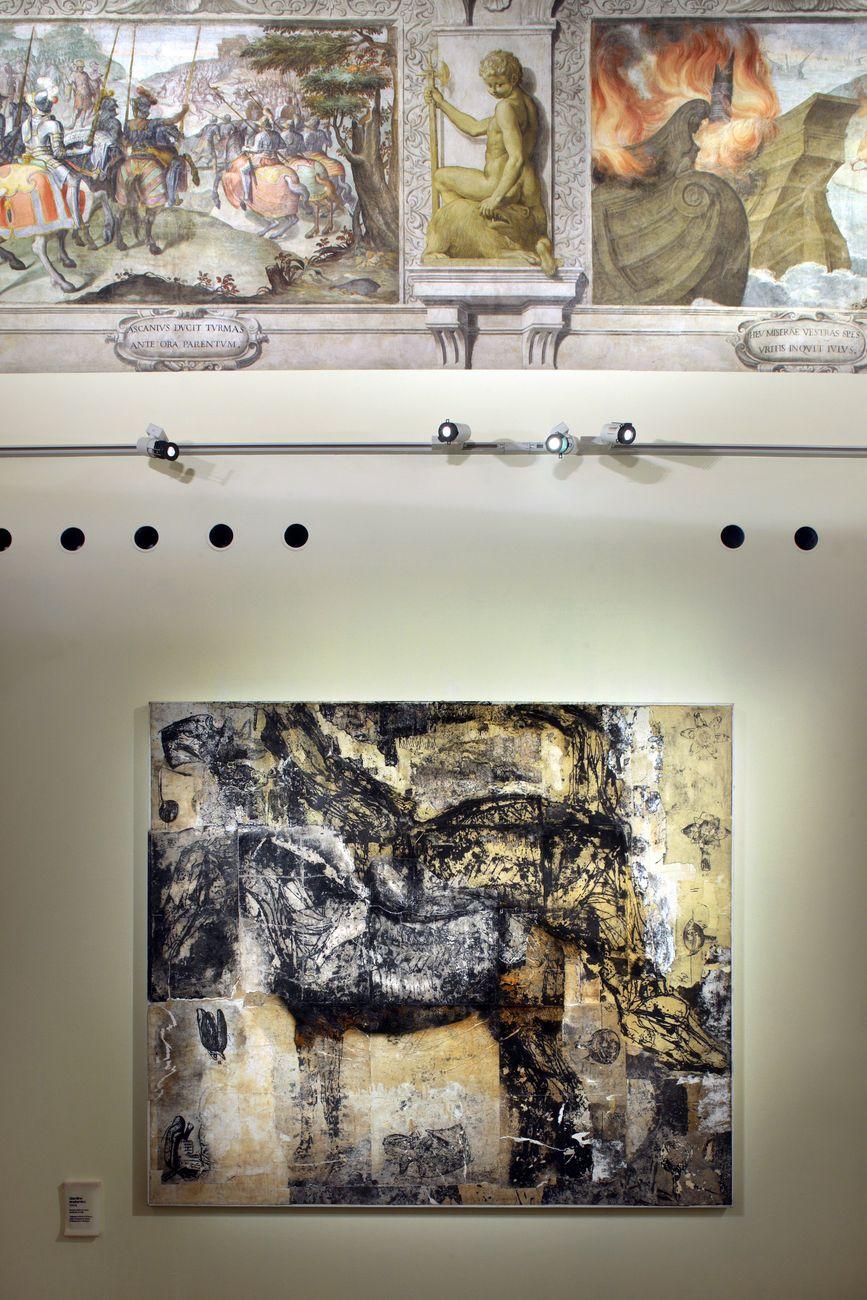 Nicola Samorì. Sfregi. Exhibition view at Palazzo Fava, Genus Bononiae. Musei nella Città, Bologna 2021. Photo Paolo Righi