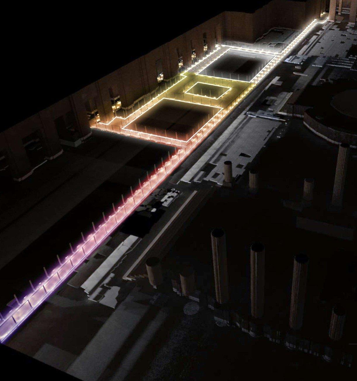 Restituzione virtuale notturna della passerella