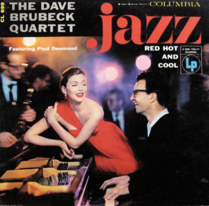 "Dave Brubeck Red Hot and Cool Label Columbia 699 12"" LP 1955 Photo Richard Avedon"