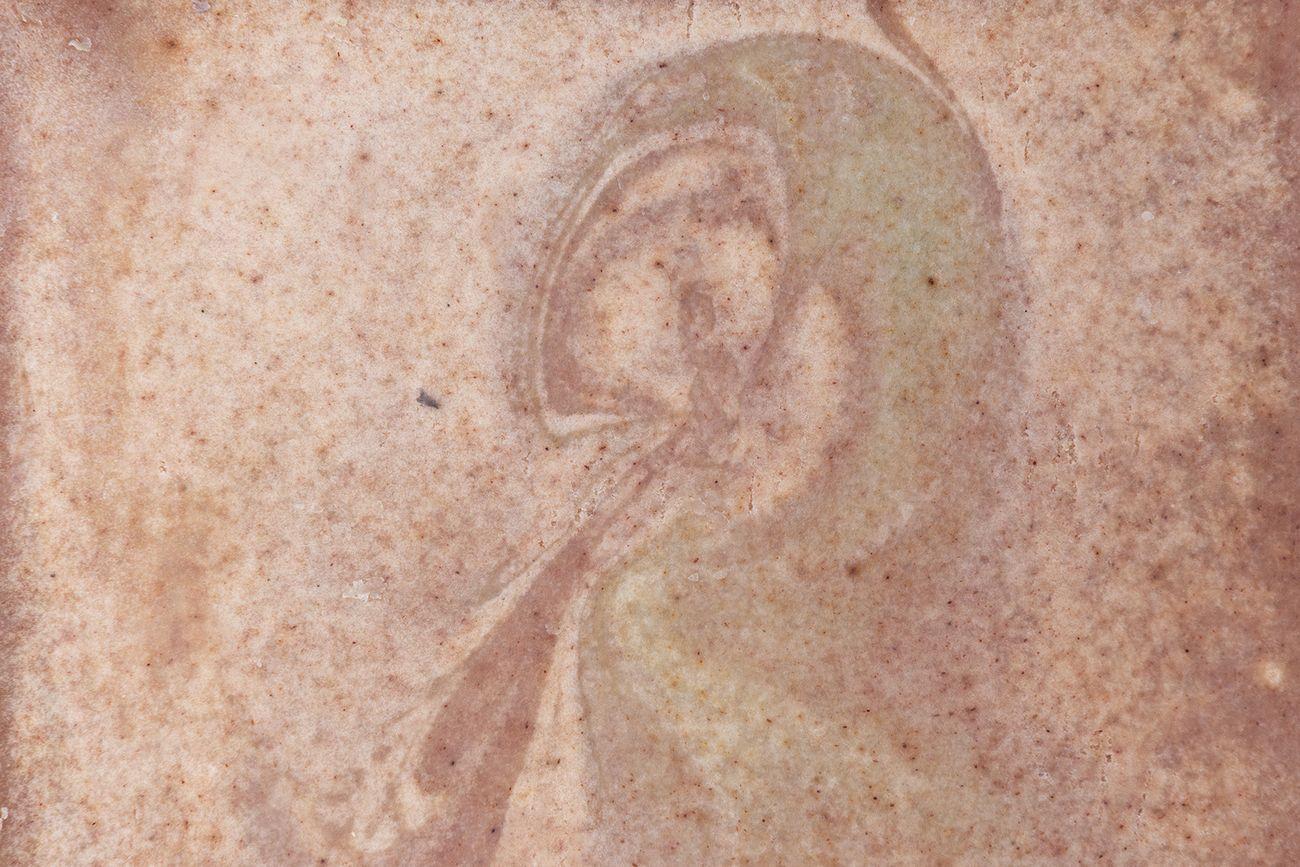 Soapopera. Episodio 1, 2018-19, dettaglio di mattonella in sapone, Ex Lanificio, Napoli