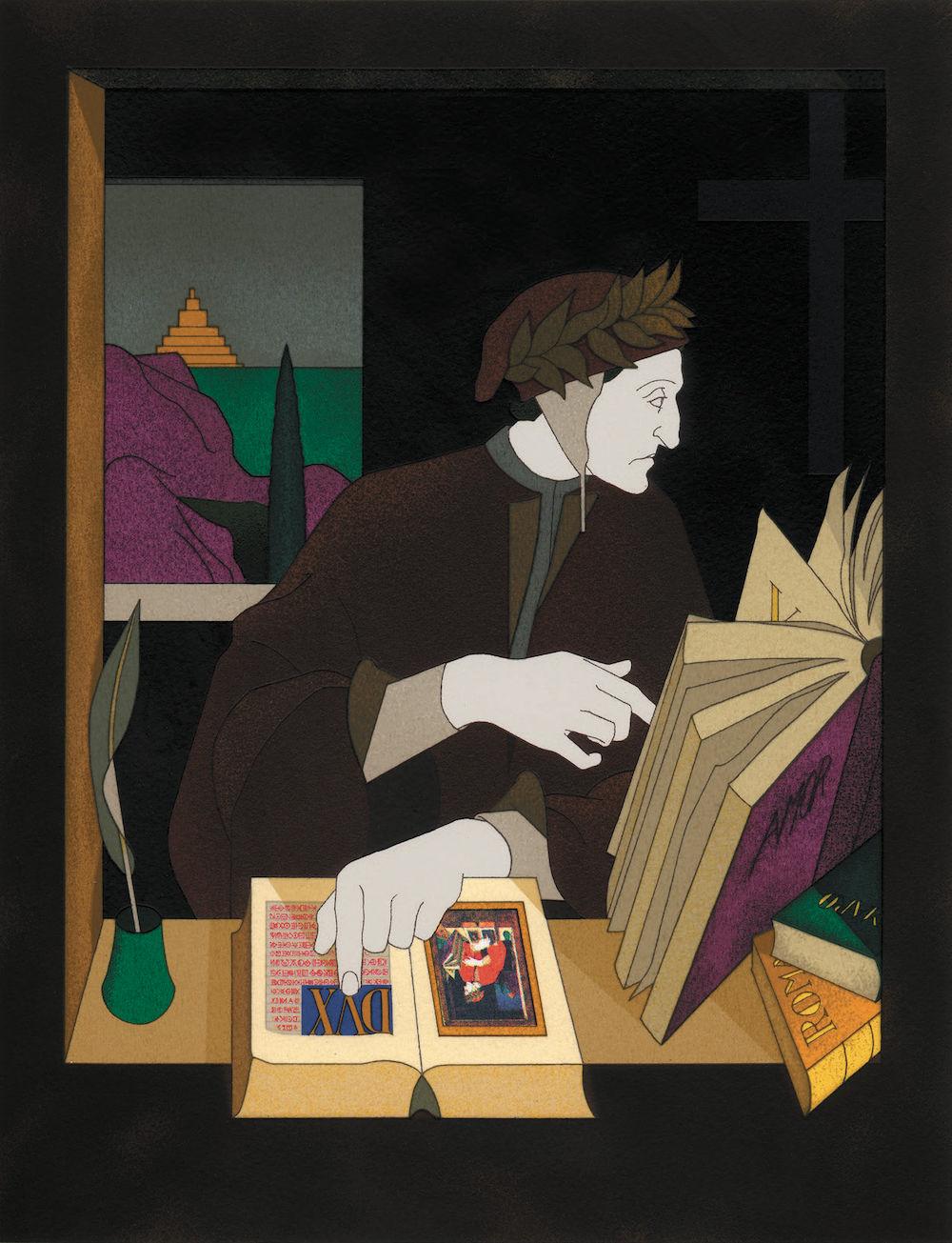 Thom Phillips, Dante nel suo studio