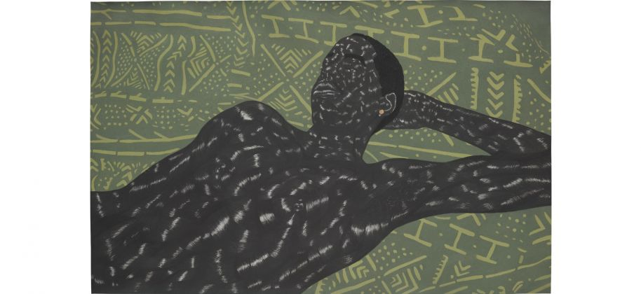 Toyin Ojih, Odutola LTS IV (2014) Courtesy of Phillips