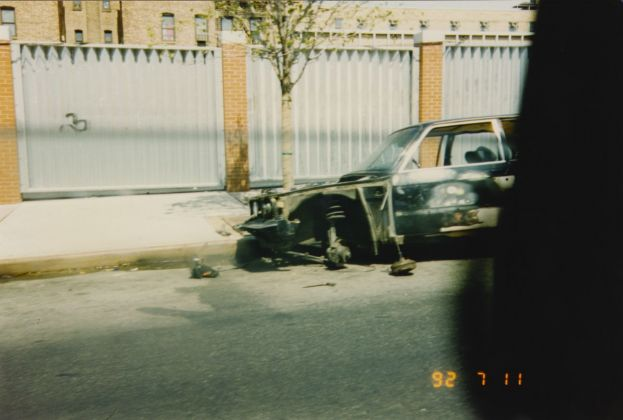 Wrecked Car in the Sun, during a New York Trip, NYC, 1992. Archivio Slam Jam