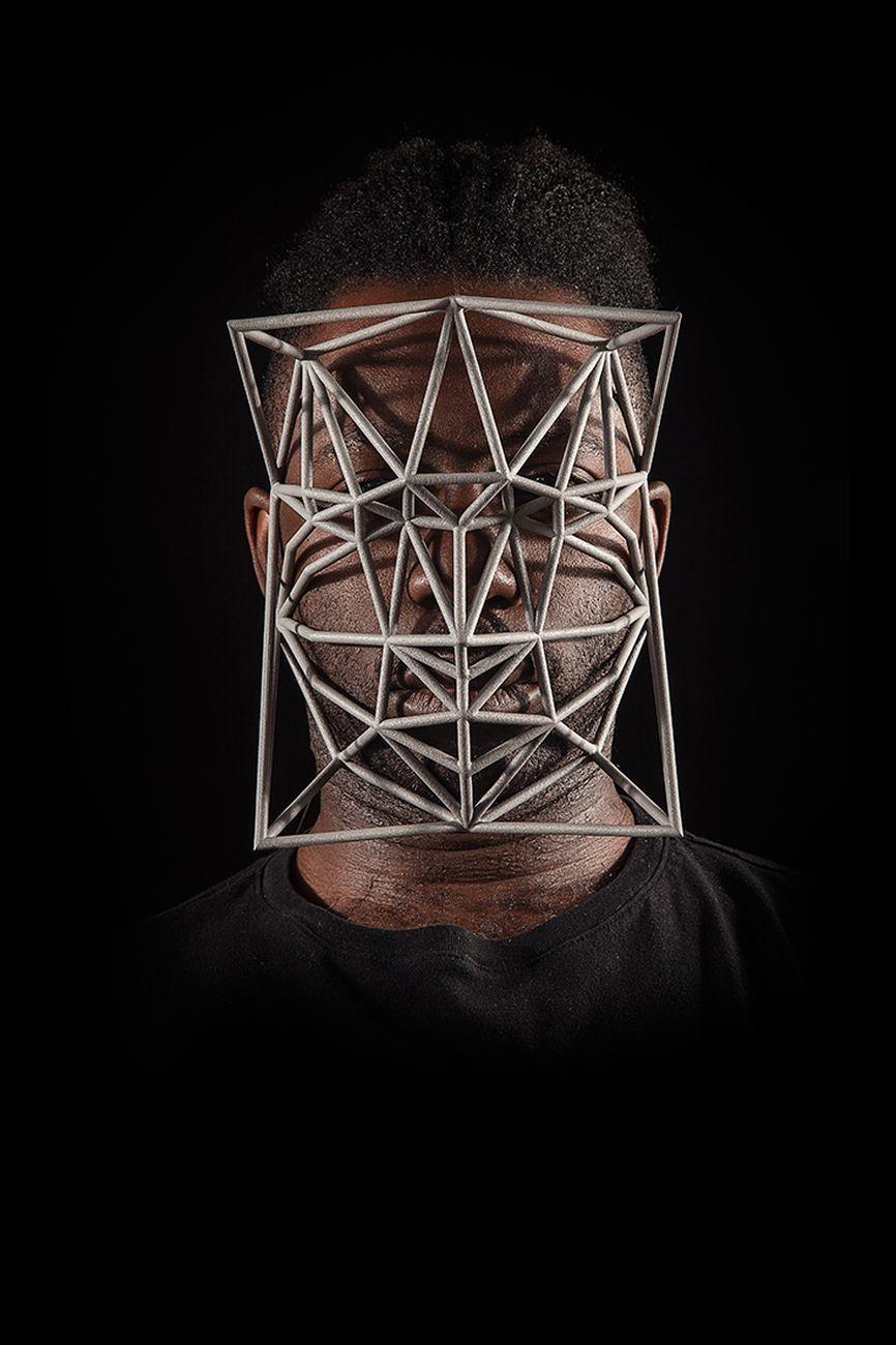 Zach Blas, Face Cage 4 Paul Mpagi Sepuya Portrait