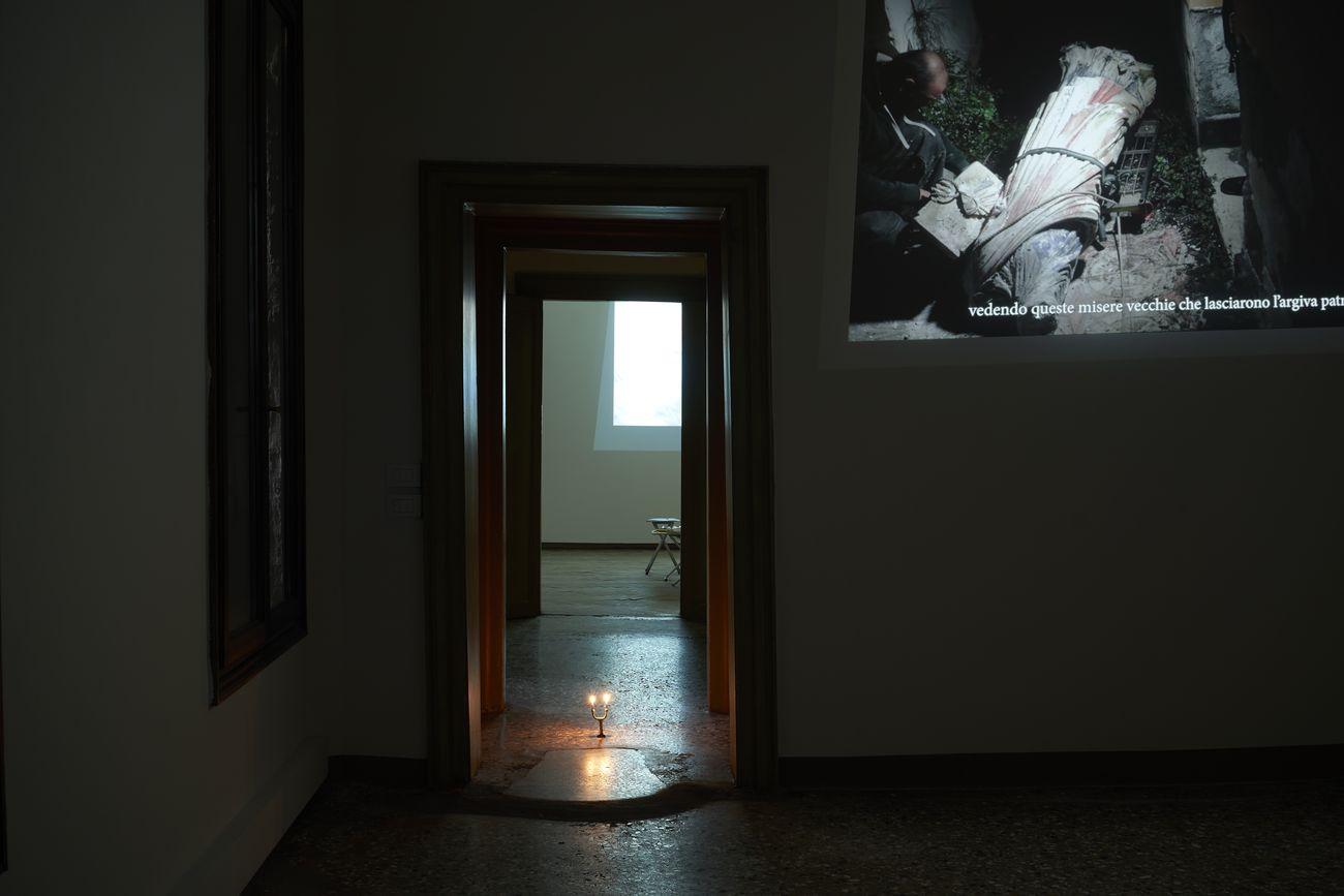 g. olmo stuppia, Le supplici, video still, Tenebra solo show at Spazio Sparc, VeniceArtFactory © Elena Andreato