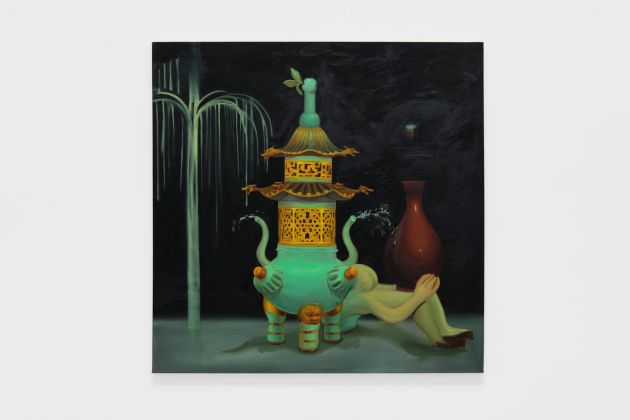 Dominique Fung What's Left Behind 2020 oil on canvas 152,4 × 152,4 cm Collezione Taurisano