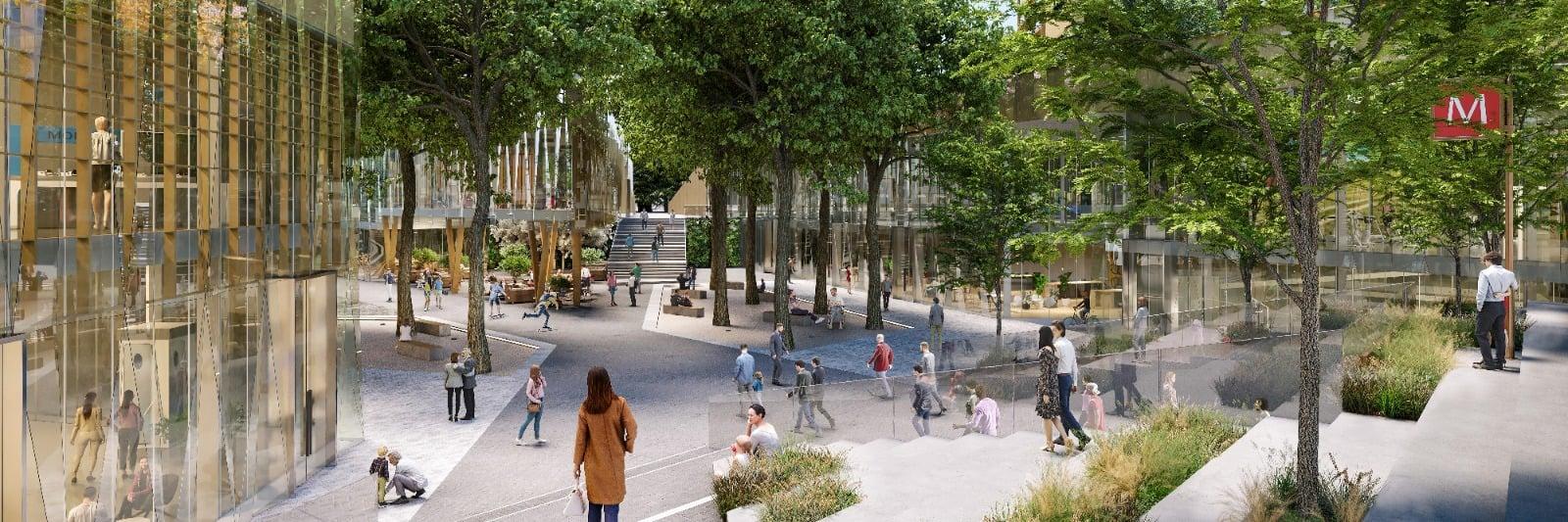 LOC - Loreto open community, progetto di rigenerazione di Piazzale Loreto a Milano. Rendering