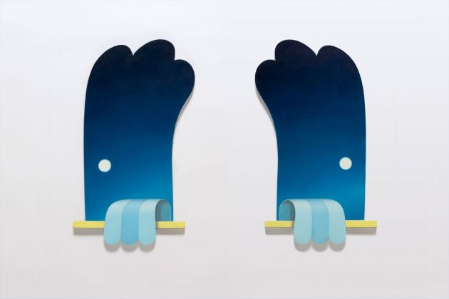 Adrian Hobbs, Paintings For Closed Rooms Painting 1 & 2, 2021. Courtesy The Flat Massimo Carasi