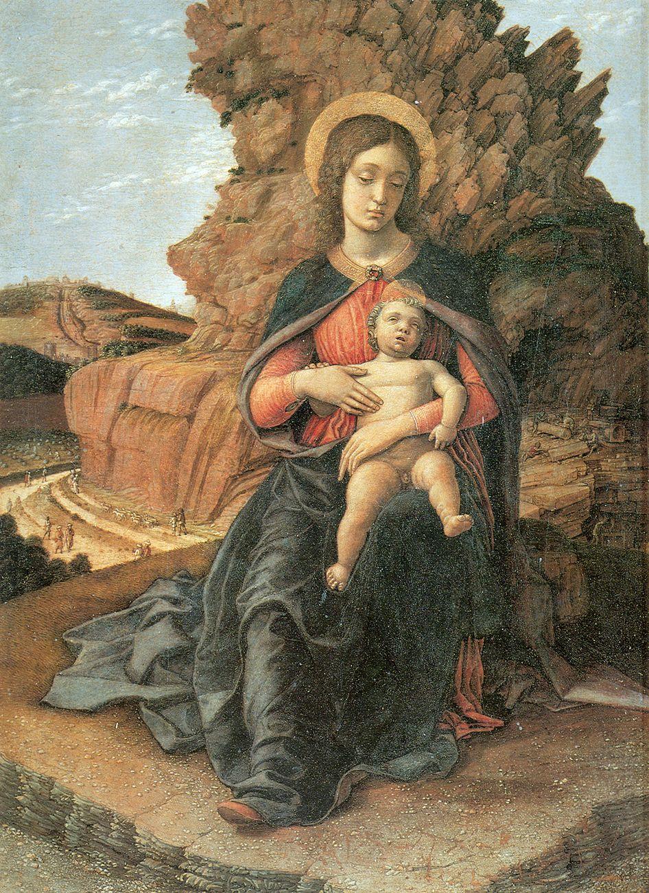 Andrea Mantegna, Madonna delle Cave, 1488 90. Galleria degli Uffizi, Firenze