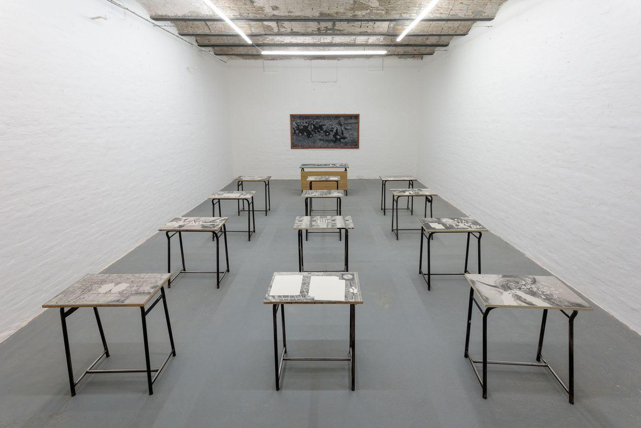 Andrea Mastrovito. La Diseducazione al Reale. Exhibition view at Galleria Michela Rizzo, Venezia 2021