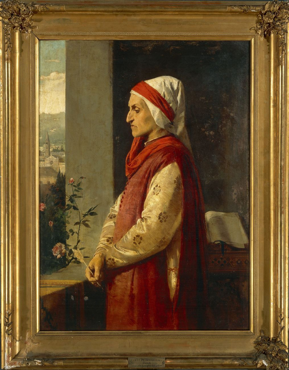 Angelo Pietrasanta, Ritratto di Dante Alighieri © Veneranda Biblioteca Ambrosiana - Mondadori Portfolio