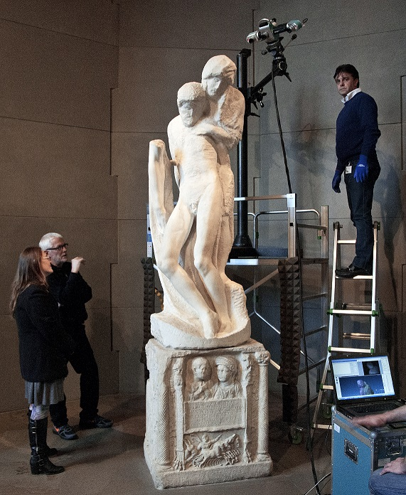 BarryXBall Michelangelo Pietà Rondanini Scanning