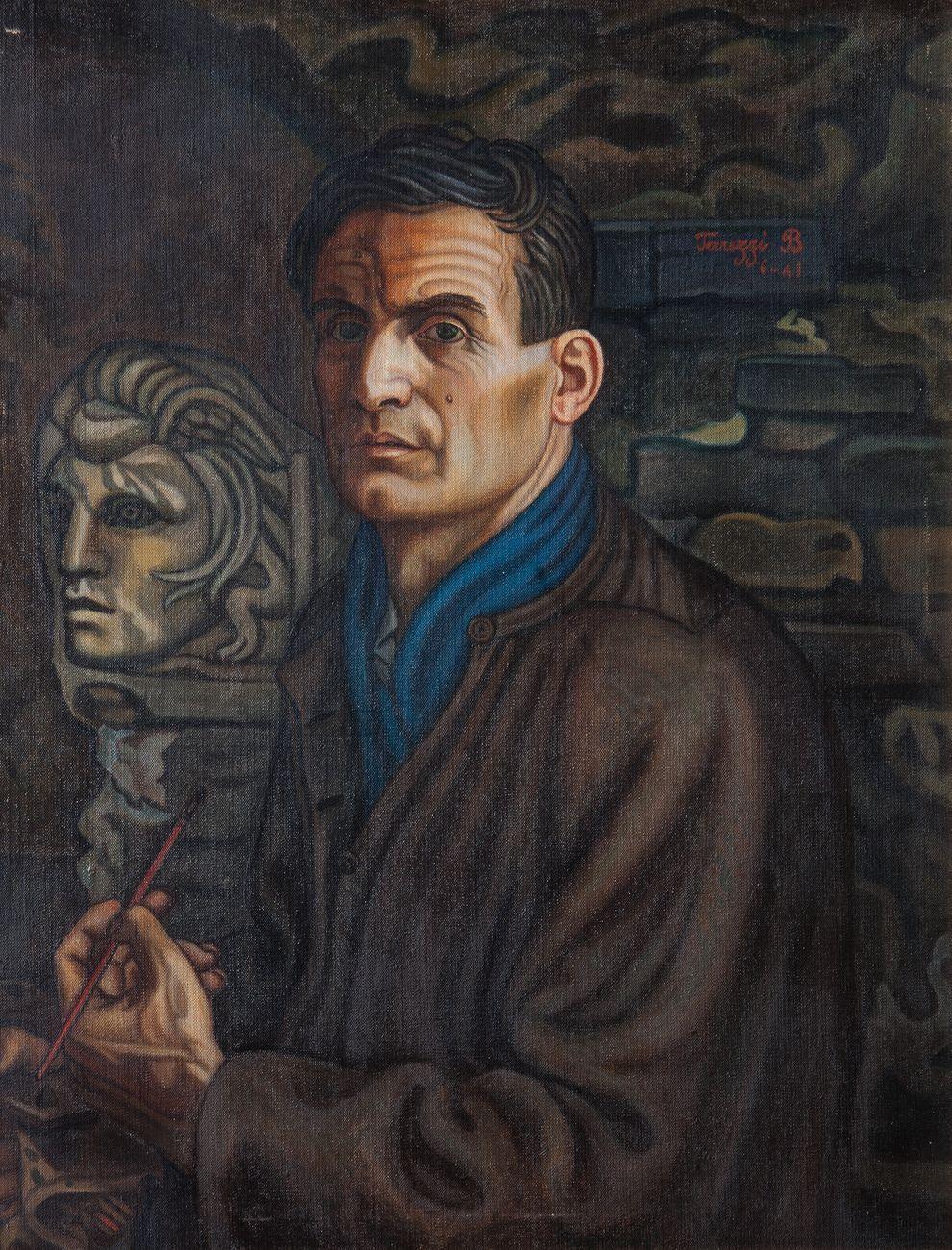 Benvenuto Ferrazzi, Autoritratto, 1941. Roma, Archivio B. Ferrazzi presso Musei di Villa Torlonia. Photo Laura Moreschini