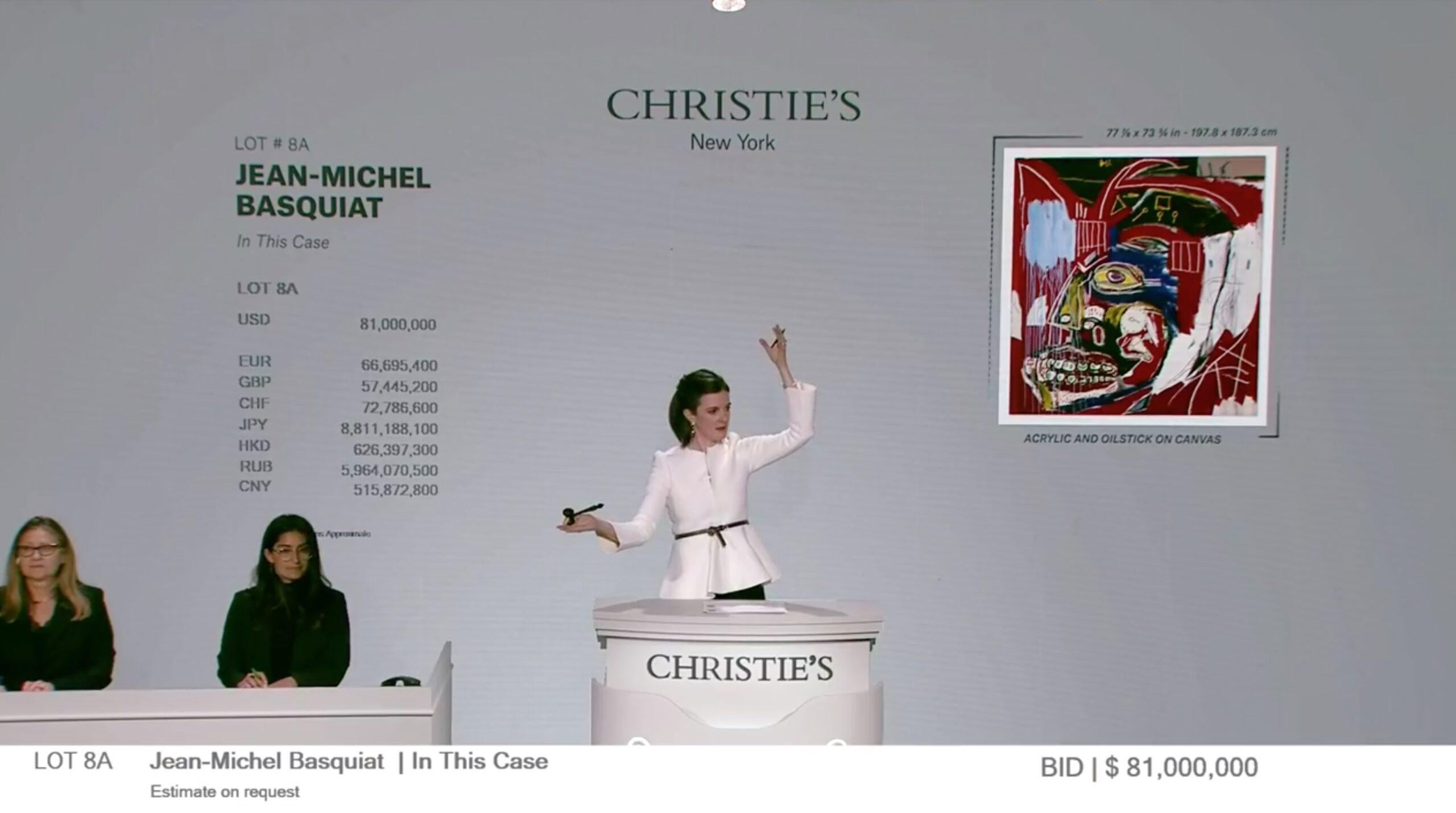 Christie's Basquiat venduto per 81 milioni di dollari