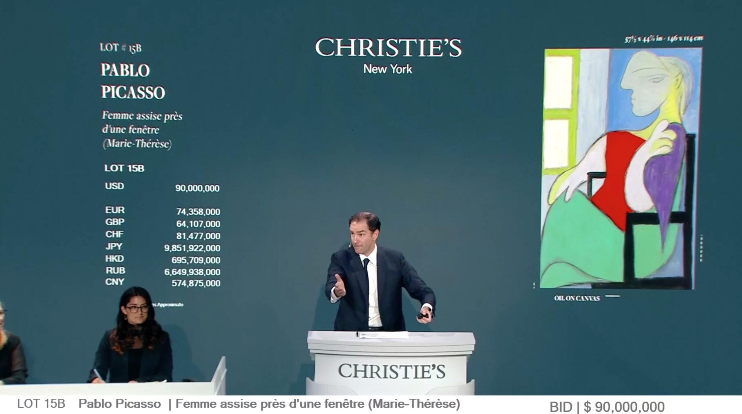 Christie's, Picasso battuto a 90 milioni di dollari