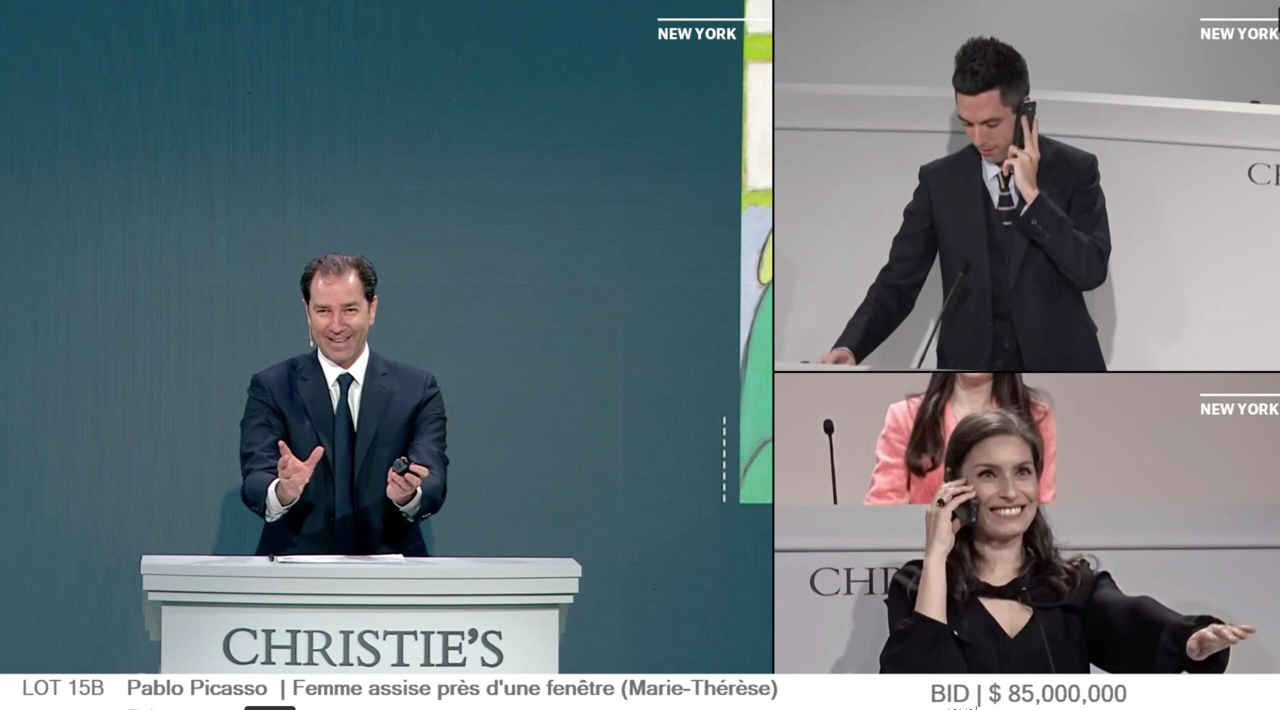 Christie's Picasso sales room