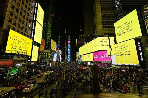 David Hockney per CIRCA, New York. Foto Facebook CIRCA