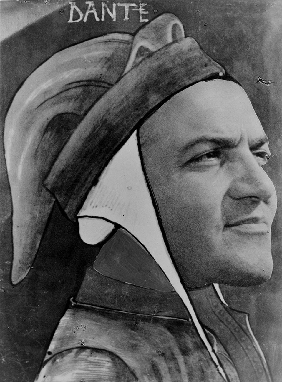 Fellini Dante. Photocollage di Davide Minghini Biblioteca Gambalunga Rimini
