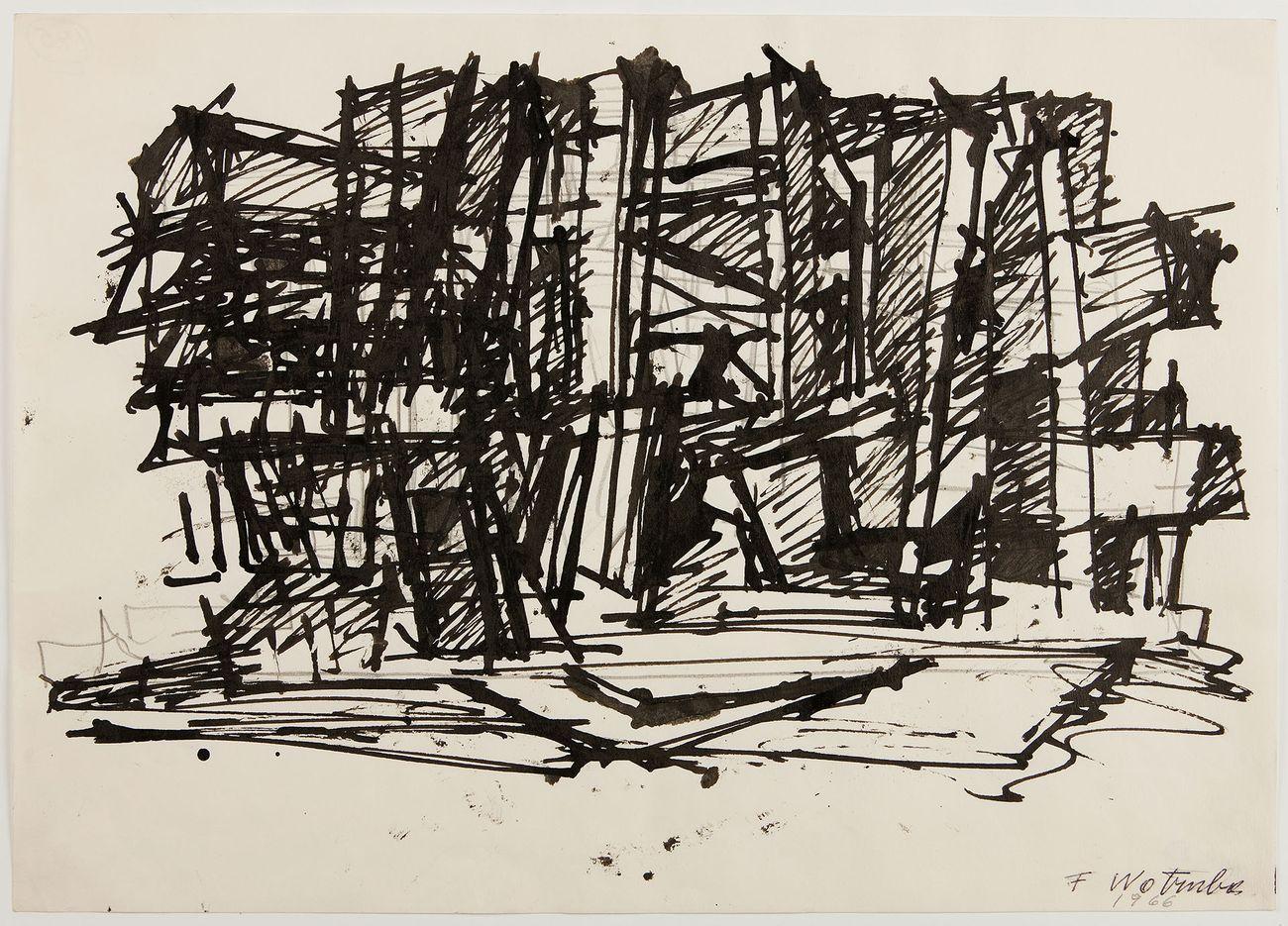 Fritz Wotruba, Skizze zu einer Architektur, 1966. Photo Harald Eisenberg Belvedere, Vienna