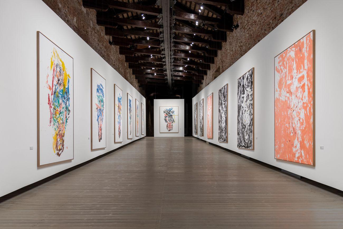 Georg Baselitz. Vedova accendi la luce. Exhibition view at Fondazione Vedova, Venezia 2021. Photo Irene Fanizza