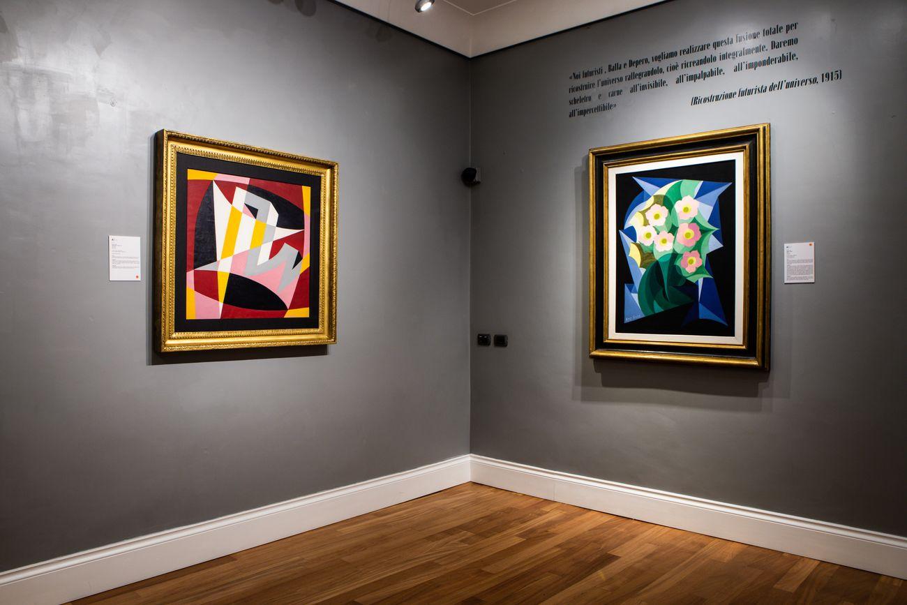 Giacomo Balla. Dal primo autoritratto alle ultime rose. Exhibition view at Galleria Russo, Roma 2021