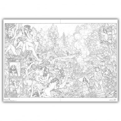 Gianenrico Bonacorsi Dionysos. Double planche originale 36 37. Encre de Chine sur papier Fabriano Tecnico 6 240gr 50 x 70 cm 388x388