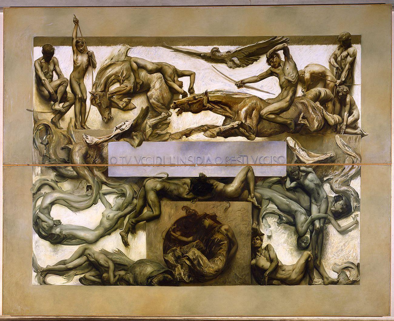 Giulio Aristide Sartorio, La Morte (parte del ciclo Il Poema della Vita Umana), 1906 07. Venezia, Fondazione Musei Civici di Venezia