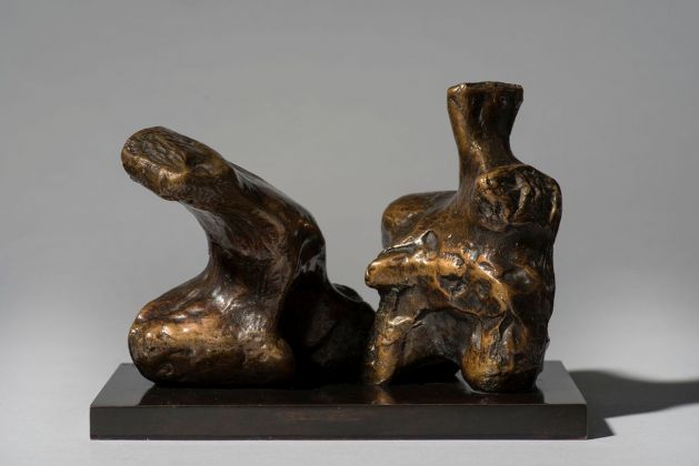 Henry Moore, Maquette for Two Piece Reclining Figure No. 1, 1959. Photo Jaron James