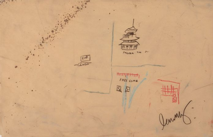 Jean-Michel Basquiat, Free Comb with Pagoda, 1986