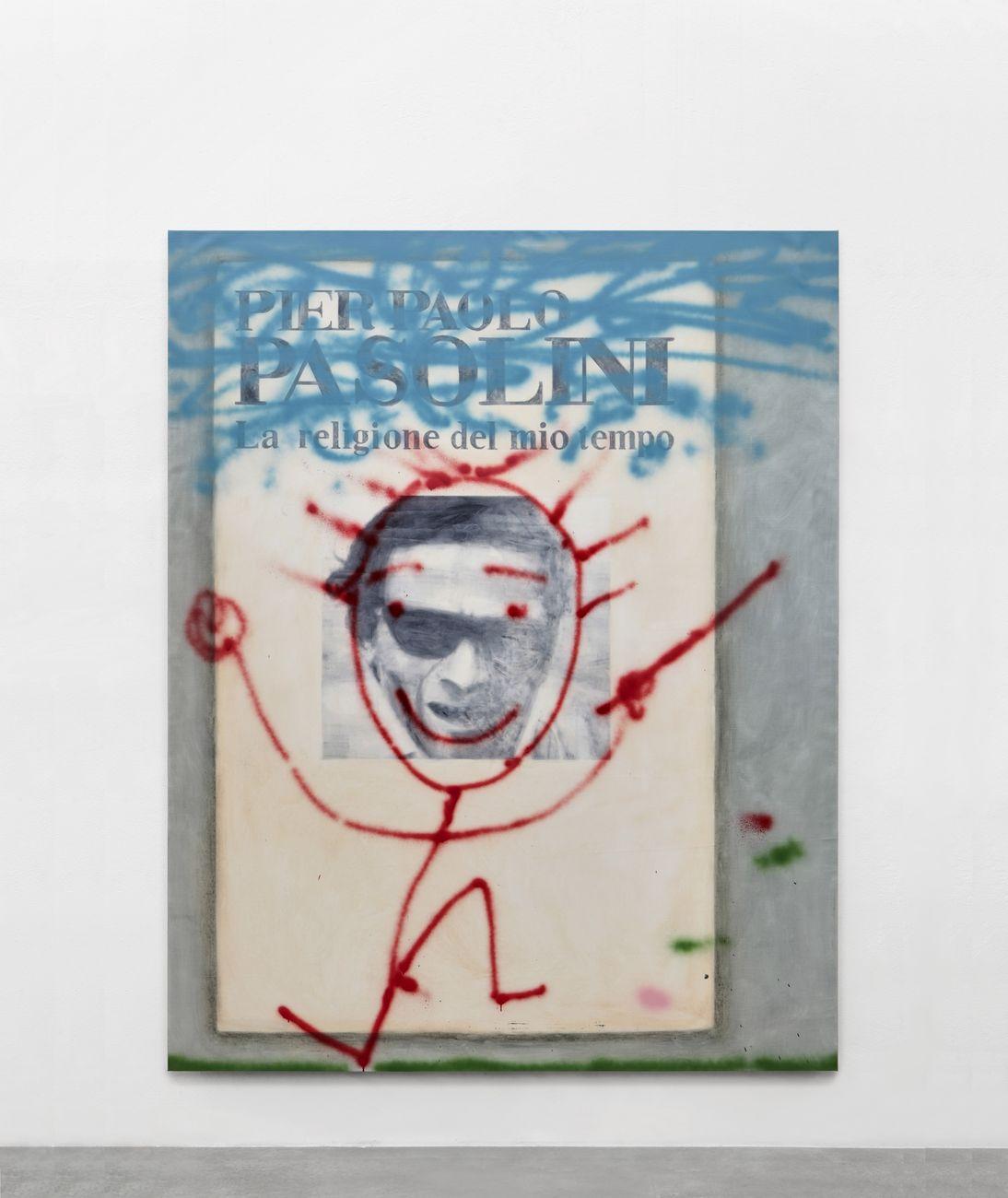 Luca Bertolo, La religione del mio tempo, 2019, olio e acrilico su tela, 250x200 cm. Courtesy SpazioA, Pistoia