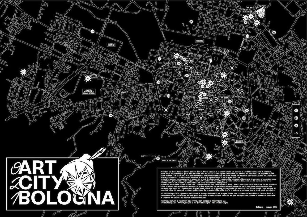 Marco Casella & Filippo Tappi, Mappa per Art City Bologna, 2021. Courtesy Art City