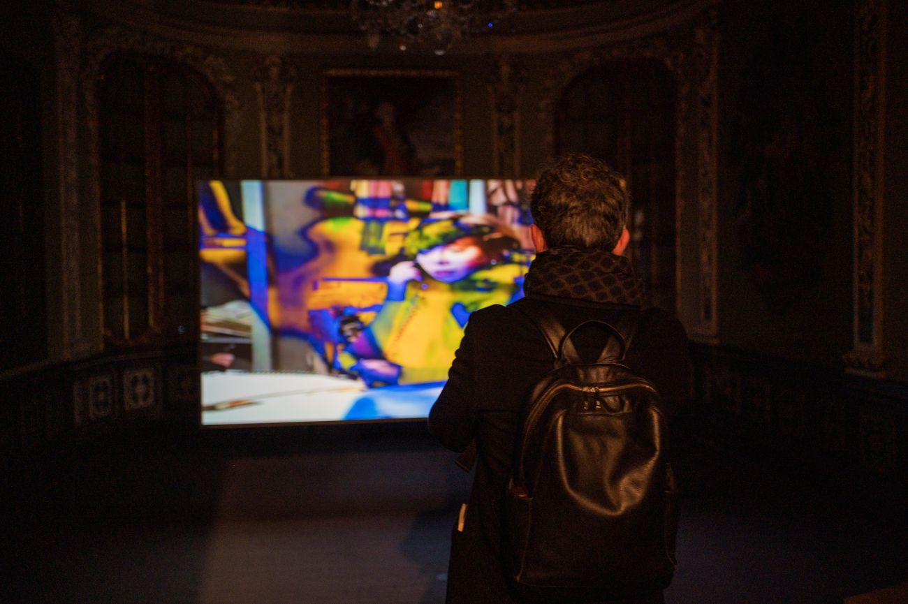 Nanni Balestrini. Exhibition view at Palau de la Virreina, Madrid 2021. Photo © Pep Herrero