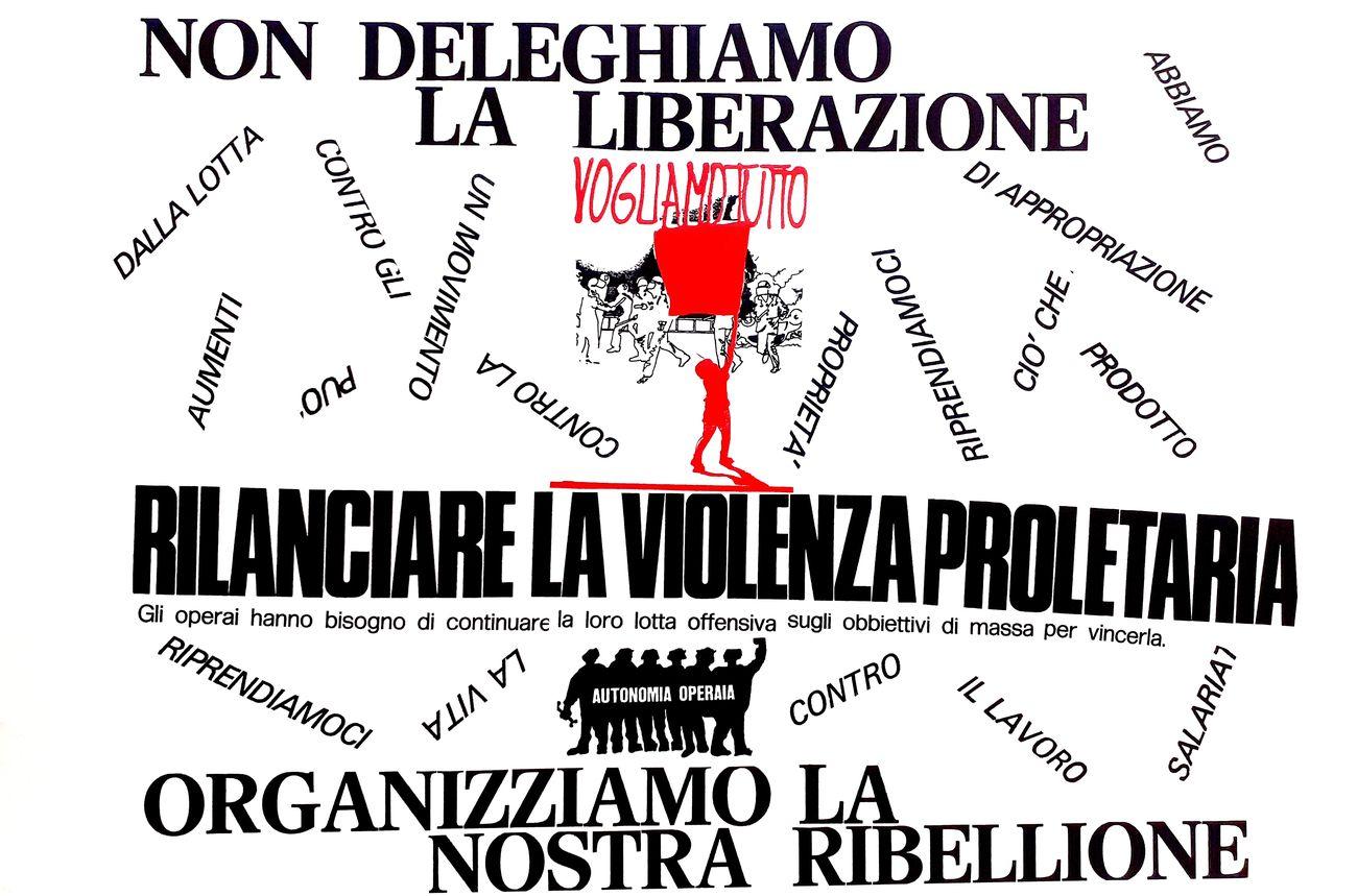 Nanni Ballestrini, La violenza proletaria, 1975 2017