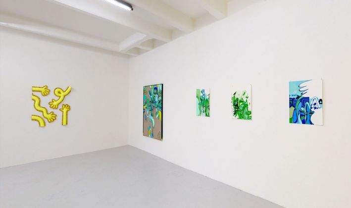Noises from the closet. Installation view at The Flat Massimo Carasi, Milano 2021