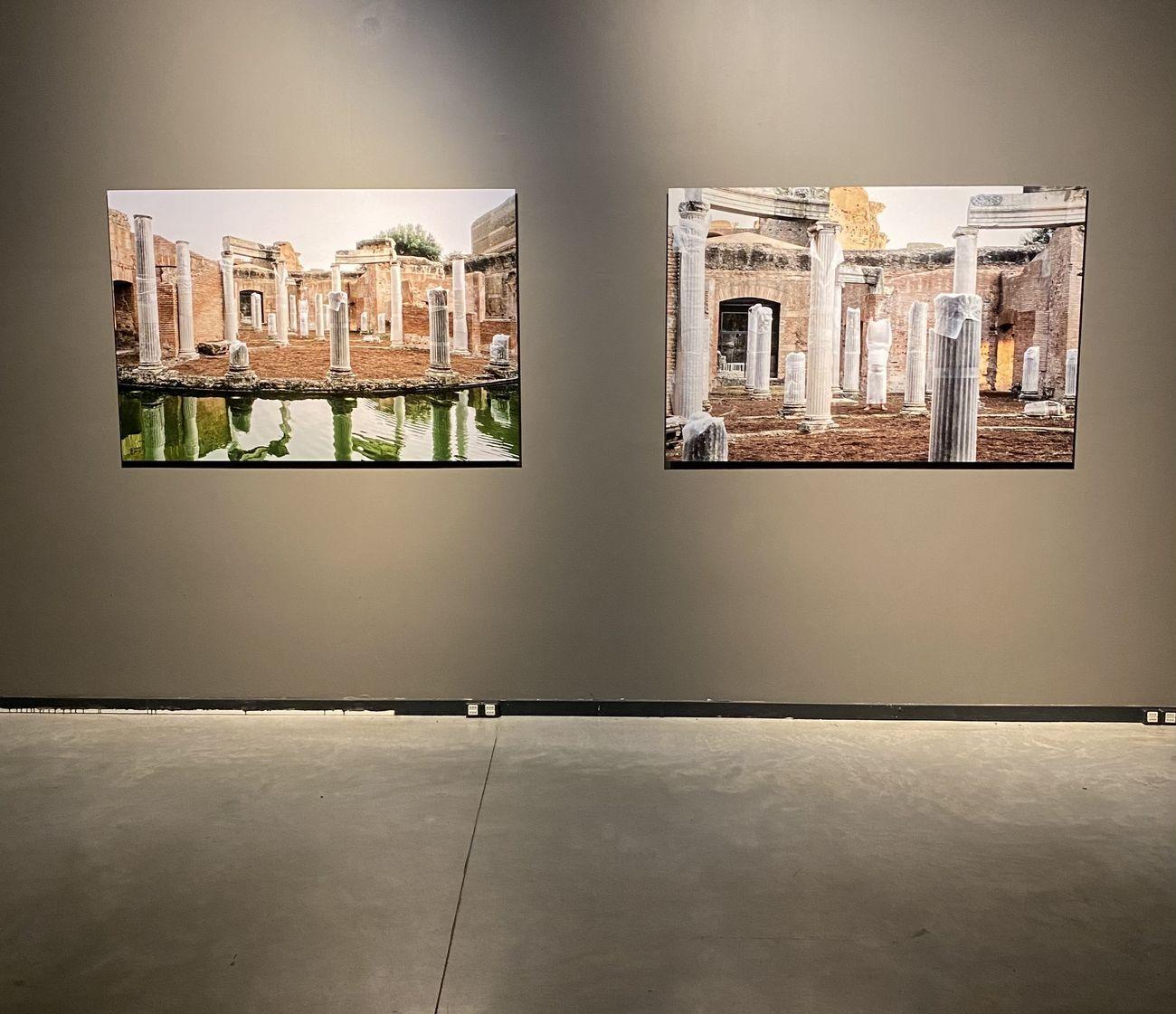 Ruben Montini, Did you ever fall in love, 2019, documentazione della performance presso il Teatro Marittimo di Villa Adriana, Tivoli. Photo Ela Bialkwoska - OKNOstudio