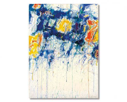 Sam Francis Untitled Blue, Yellow and White (1956) Courtesy of Il Ponte
