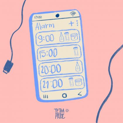 Scheduling Life by Pills and Phone Alarms by Cecilia Sammarco