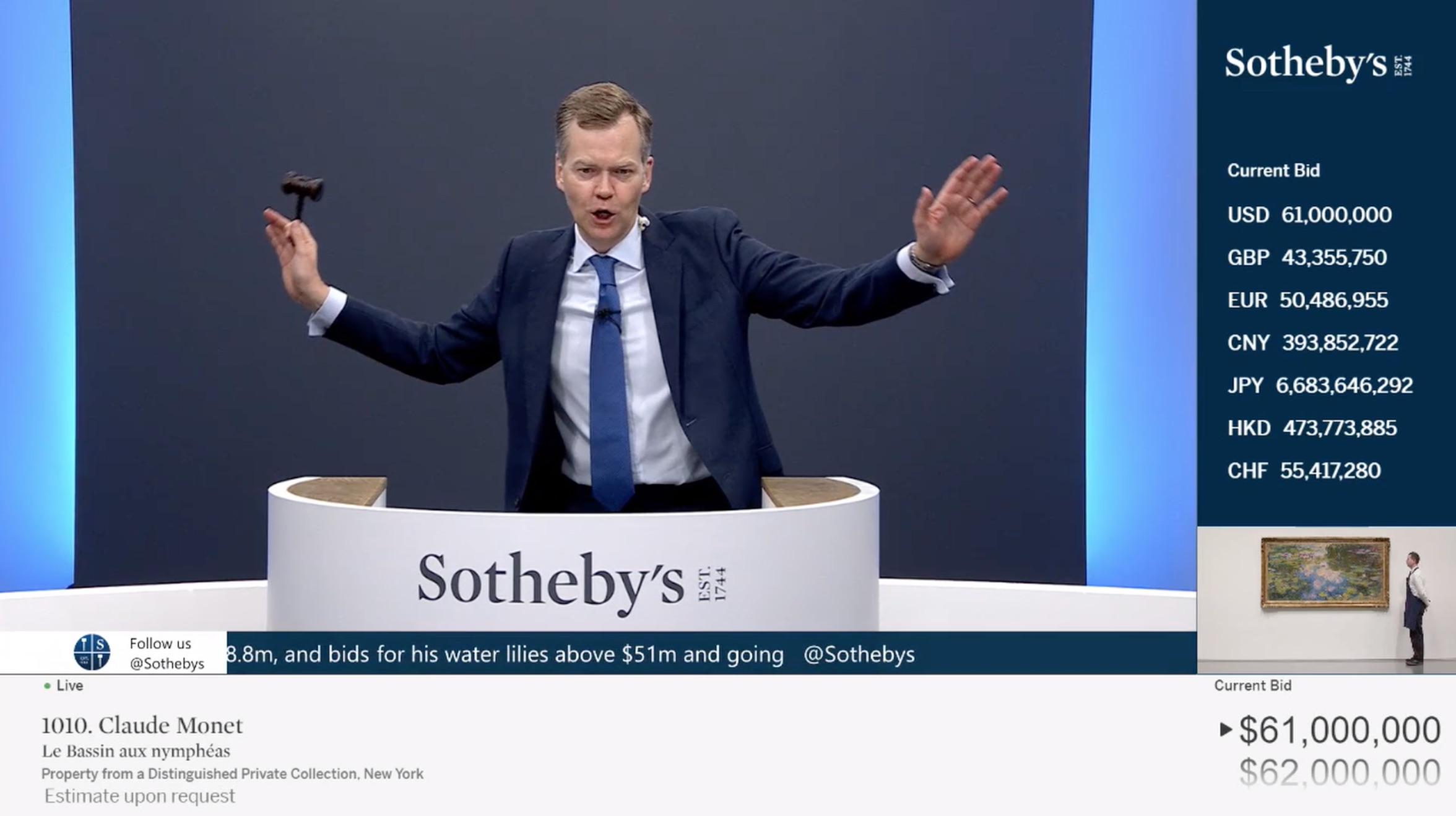 Sothebys Monet battuto a 61 milioni di dollari