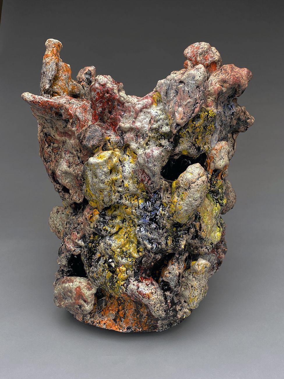 Tony Marsh, Neo Crucible, 2021, multifired clay & glaze materials