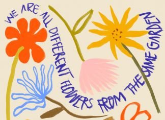 We are all different flowers from the same garden by Cecilia Sammarco