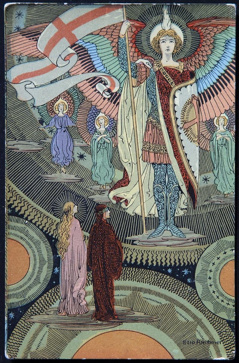 08)Ezio Anichini, Divina Commedia, Paradiso, Capitolo XVIII, Firenze, P.Giusti e figli, 1918