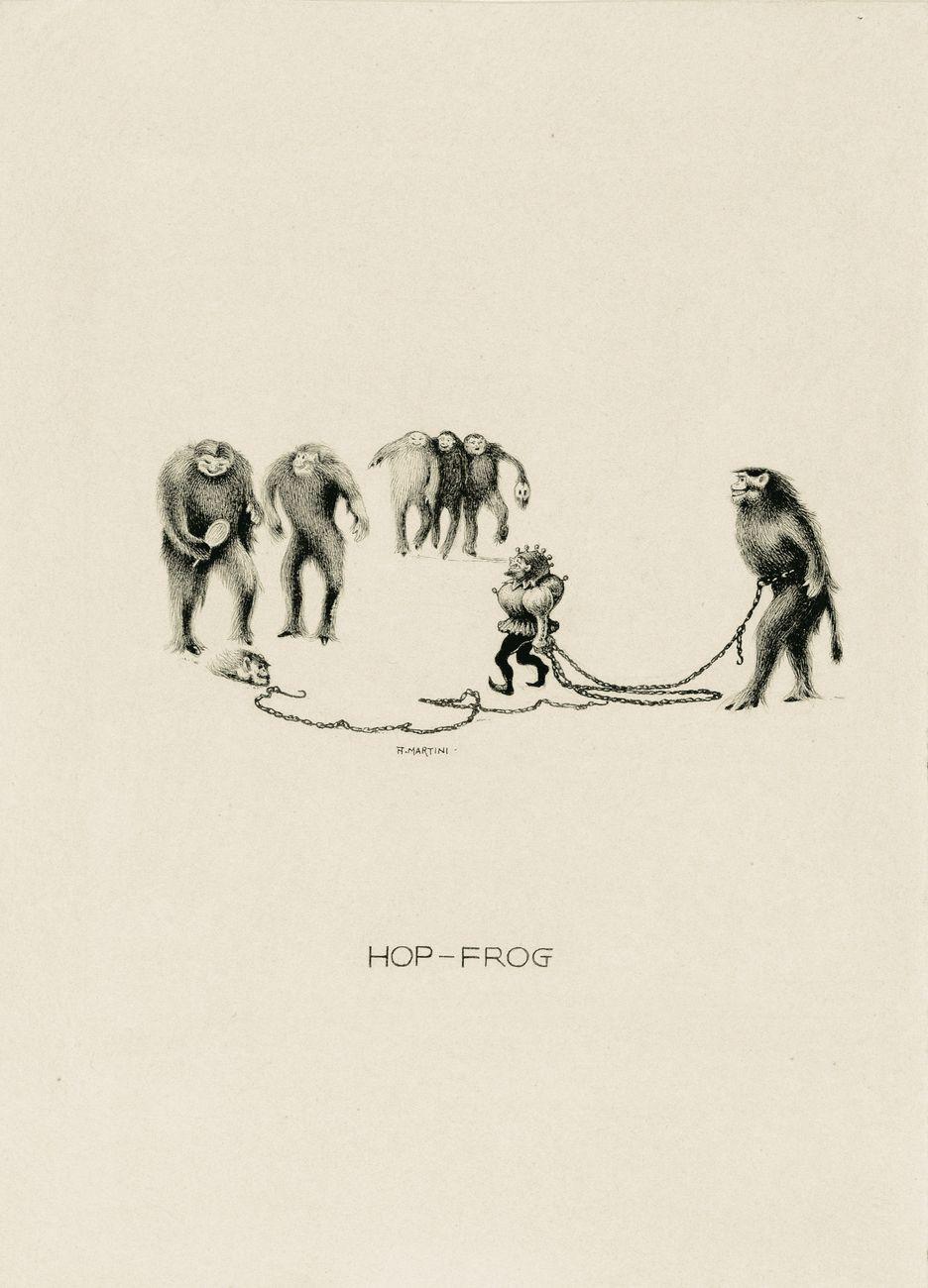 Alberto Martini, Hop Frog, illustrazione per i Racconti di Edgar Allan Poe, 1907. Courtesy Galleria Carlo Virgilio