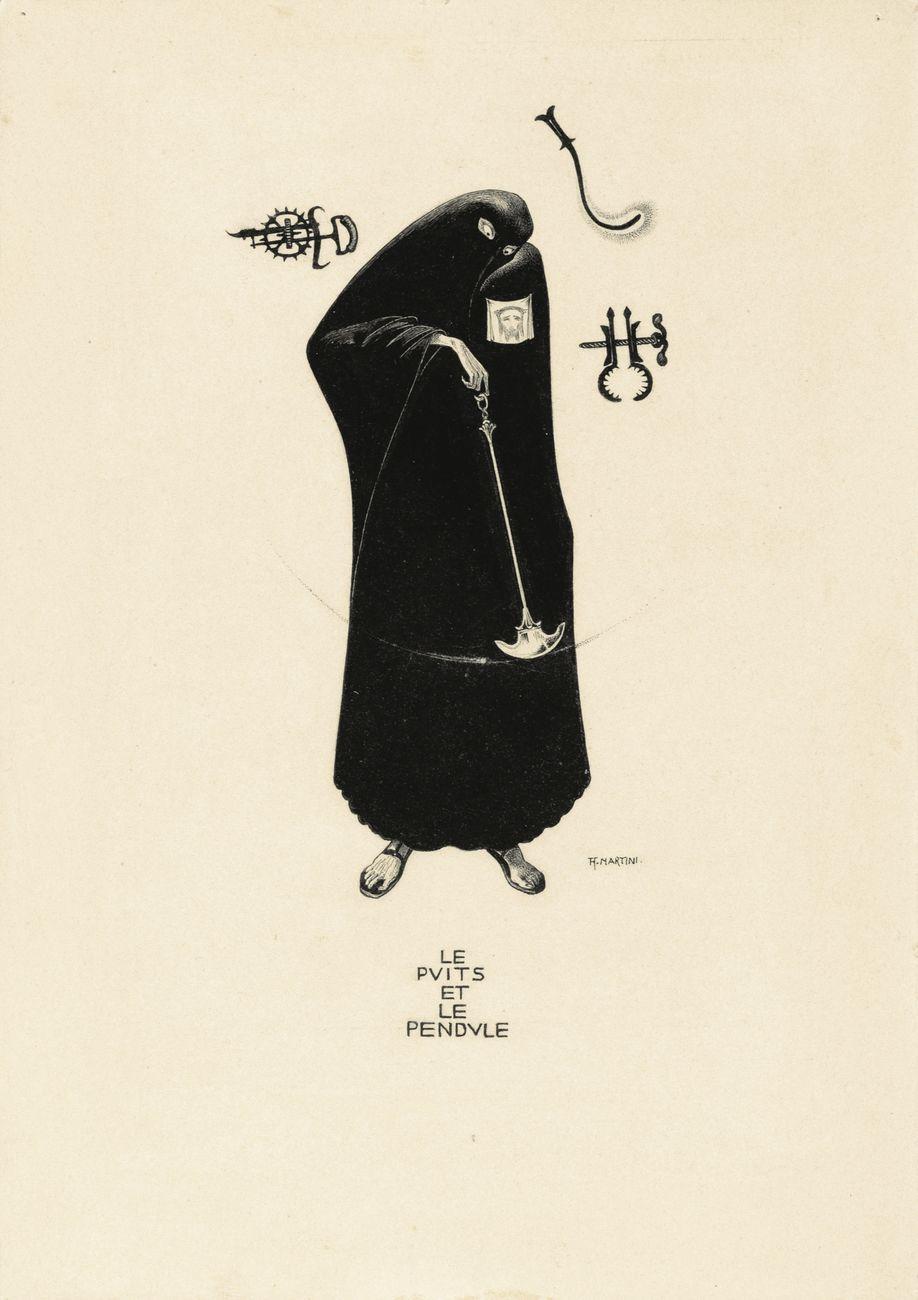 Alberto Martini, Le puits et le pendule, illustrazione per i Racconti di Edgar Allan Poe, 1907. Courtesy Galleria Carlo Virgilio