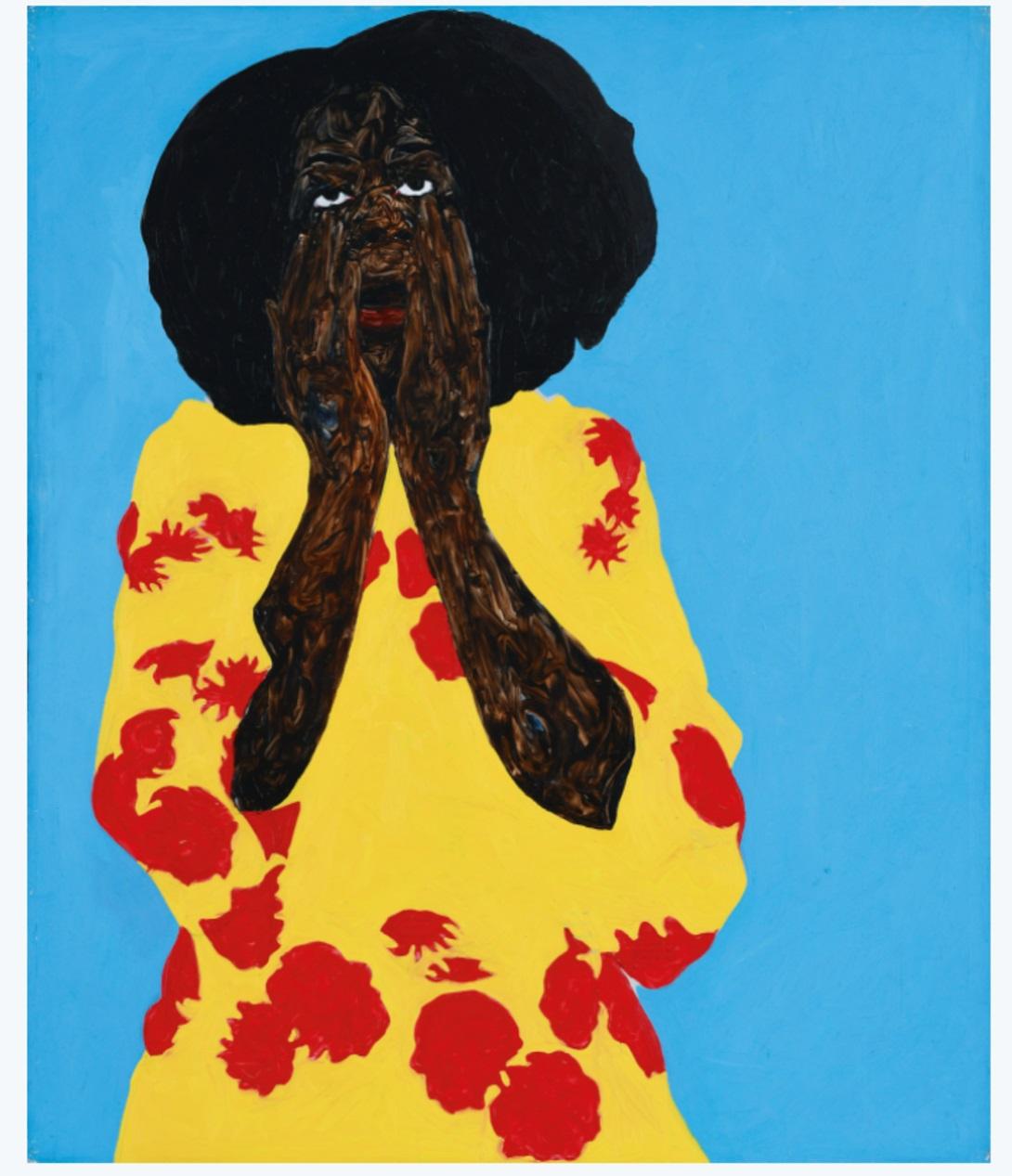 Amoako Boafo Justine Mendy (2017) Courtesy of Christie's Images Ltd 2021