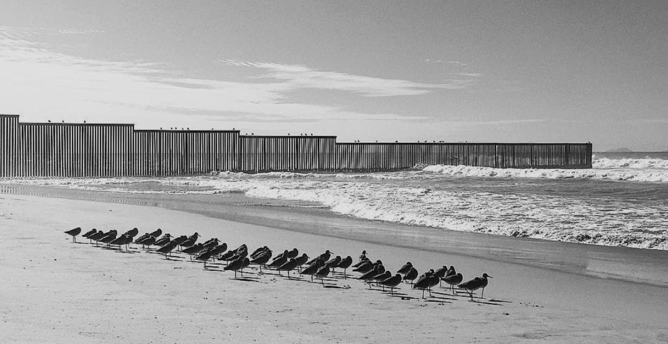 Andrea Masala, Il muro di confine tra la Plaja de Tijuana e il Friendship Park di San Diego, 2018, fotografia