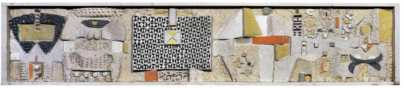 Costantino Nivola, Senza titolo [Maquette per lo Showroom Olivetti, New York City], 1953. Addison Gallery of American Art, Phillips Academy, Andover. Photo Marco Anelli. Courtesy Magazzino Italian Art