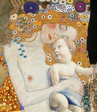 Ehy momma.. Gustav Klimt, Three ages of woman, 1905. Sandro Botticelli, Madonna del Libro, 1480. Courtesy Claudia Storelli