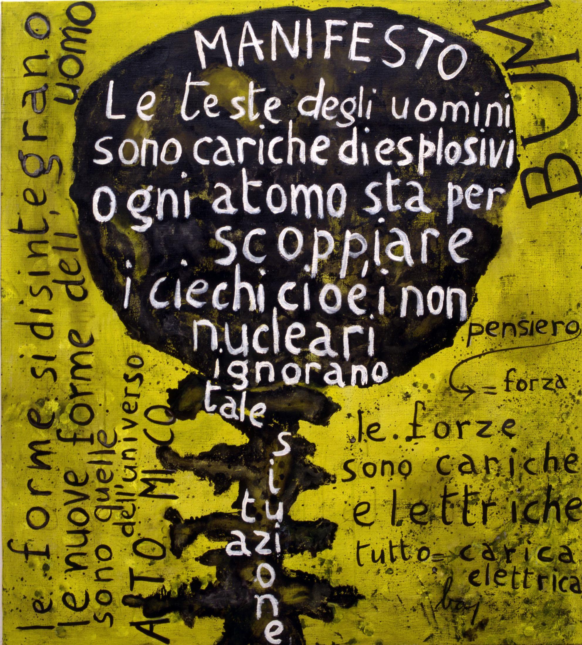 Enrico Baj, Manifesto Nucleare, 1952