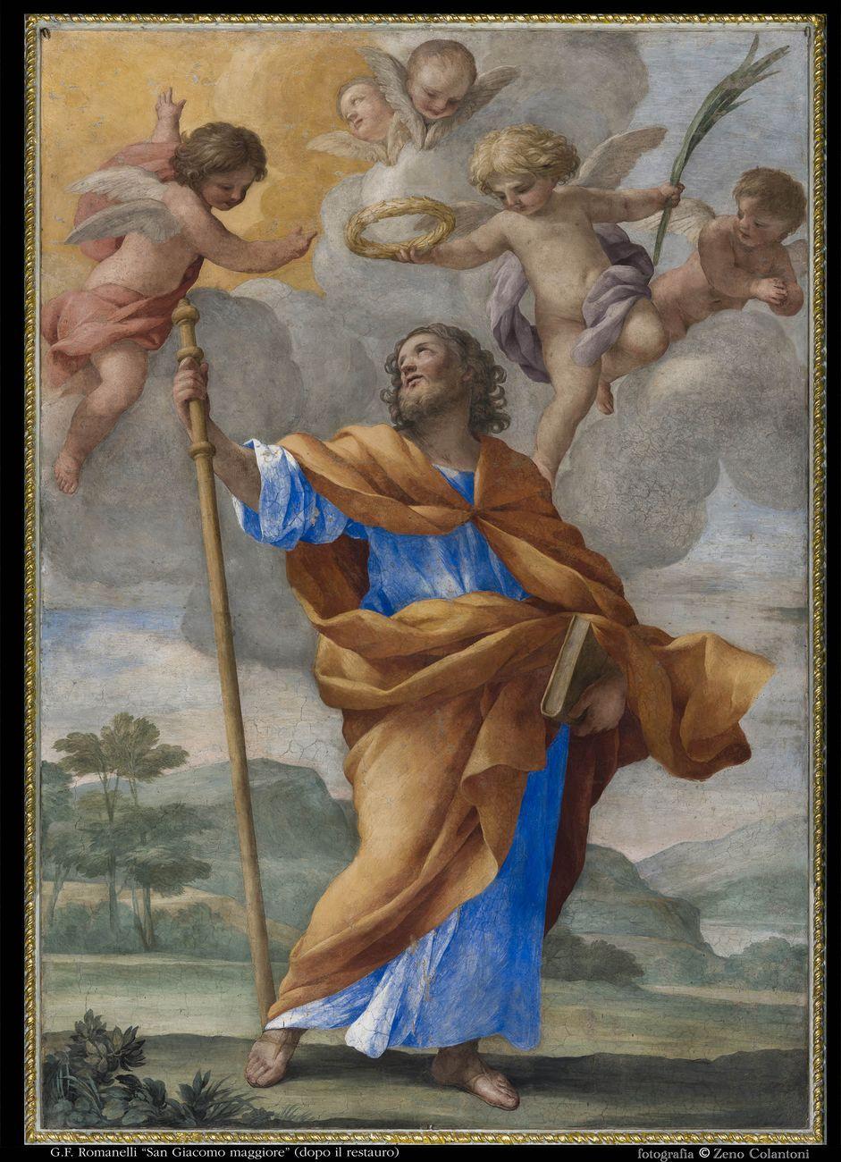 Francesco Romanelli, San Giacomo il Maggiore. Chiesa di San Giacomo alla Lungara, Roma. Dopo il restauro. Photo © Zeno Colantoni